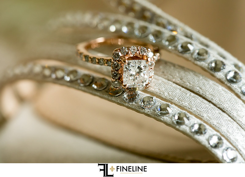 rose gold wedding ring photo by FINELINE Weddings Greensburg, PA