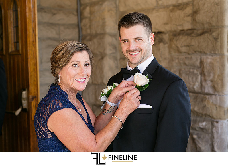 groom with mother photo by FINELINE Weddings Greensburg, PA