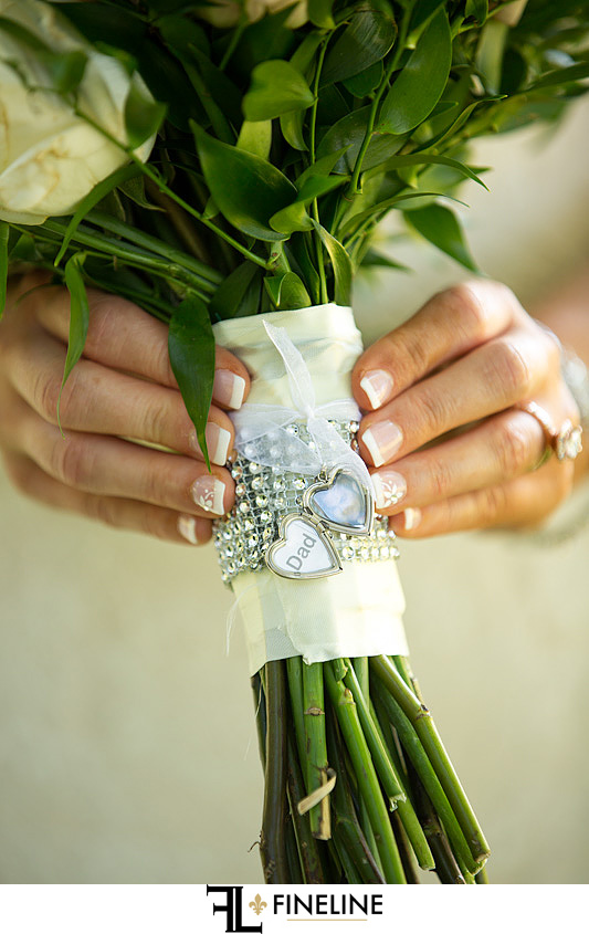 Charm for Dad who passed away photo by FINELINE Weddings Greensburg, PA