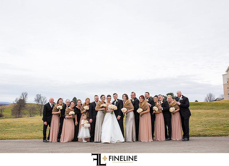 the bridal party FINELINE  Weddings Greensburg PA