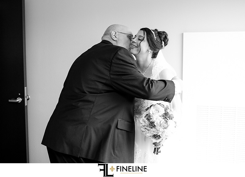 first look with father of the bride FINELINE weddings photography Greensburg PA