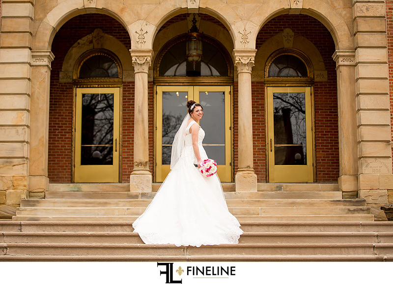 Bridal and Groom in pink and black FINELINE weddings photography Greensburg PA