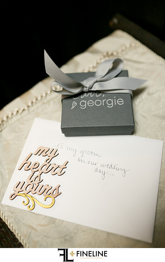 card to bride photo by FINELINE Weddings Greensburg, PA