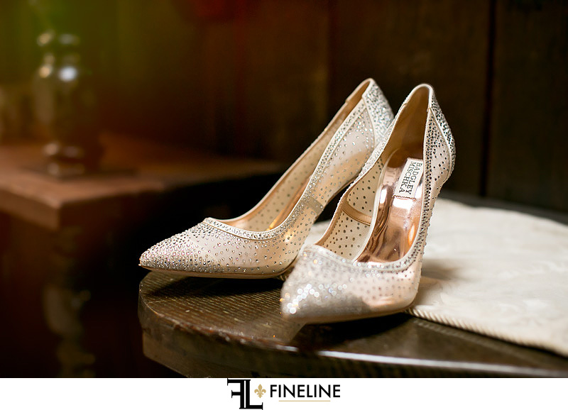 brides shoes photo by FINELINE Weddings Greensburg, PA