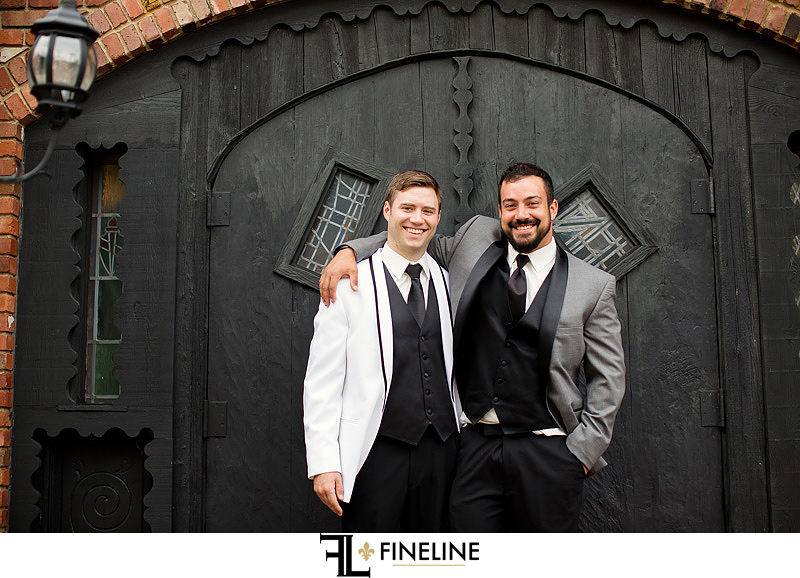 groom and best man  photo by FINELINE Weddings Greensburg, PA