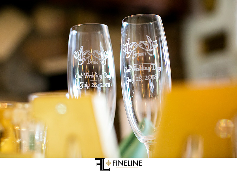 custom wedding flutes