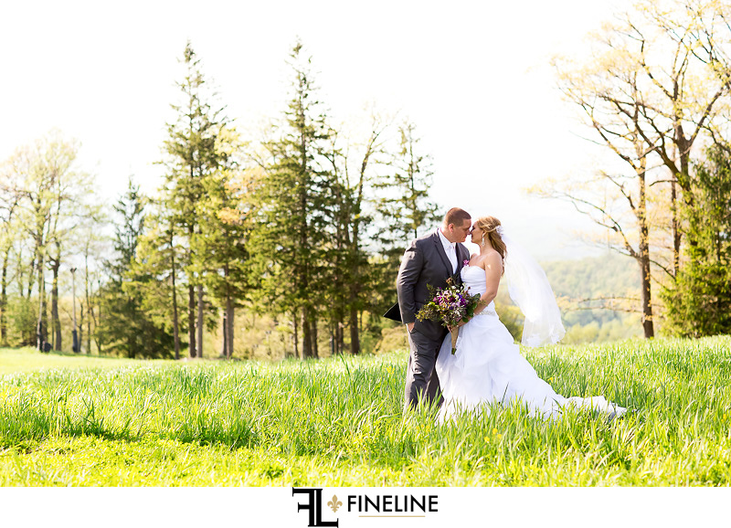 Mountain Forest wedding party photo shoot photos by FINELINE weddings Greensburg PA