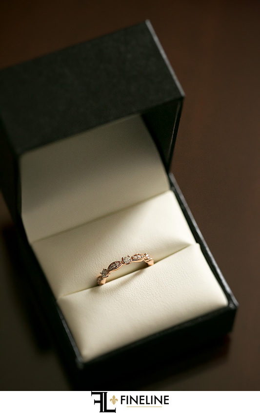 rose gold wedding band photo by FINELINE Weddings Greensburg, PA