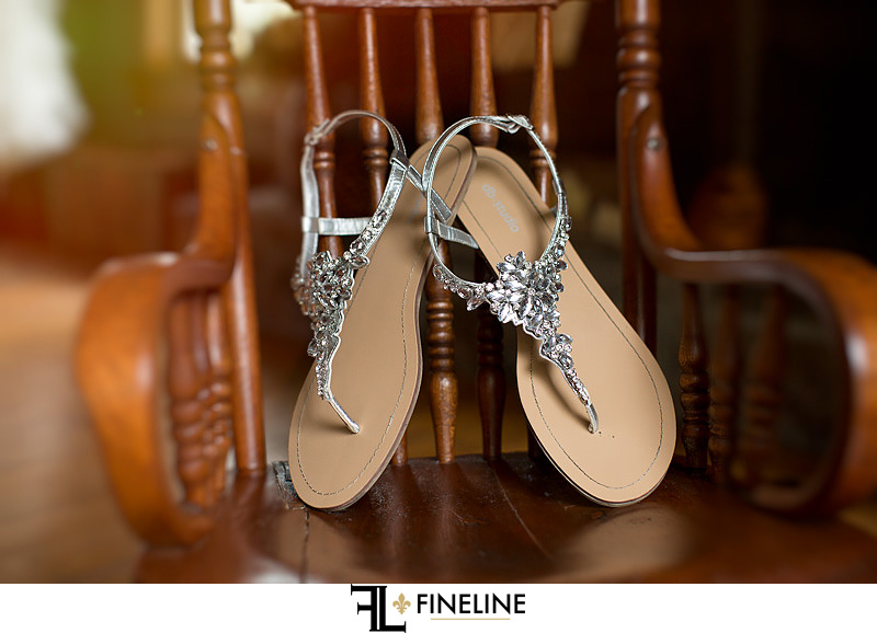 wedding sandals photo by FINELINE Weddings Greensburg PA