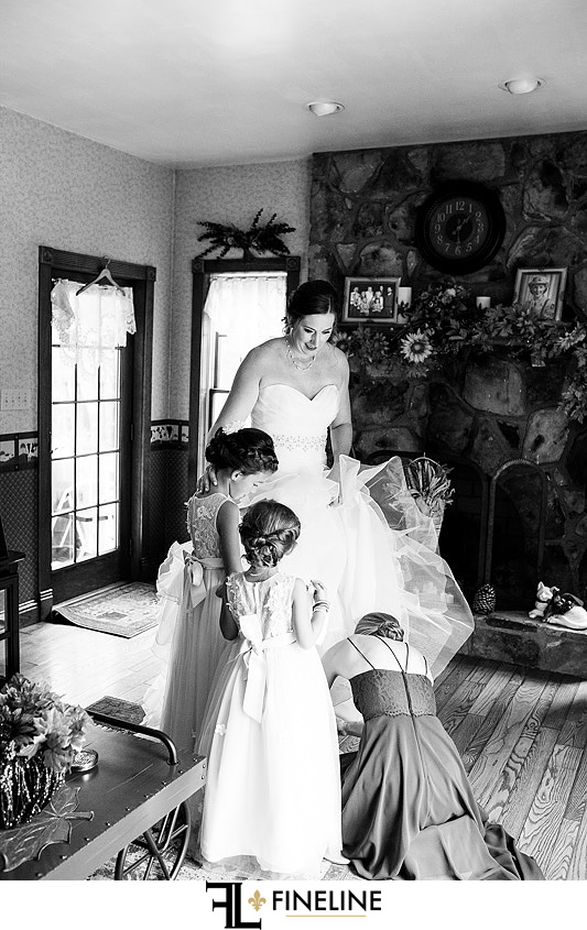 bride getting ready photo by FINELINE Weddings Greensburg PA