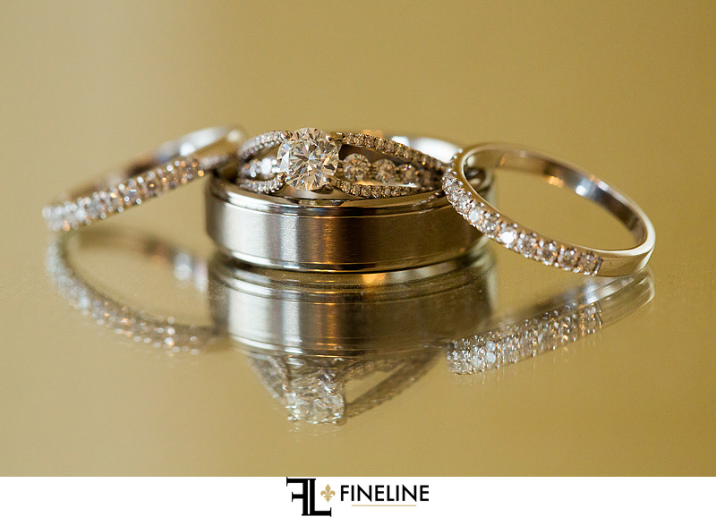 wedding rings photo by FINELINE Weddings Greensburg PA