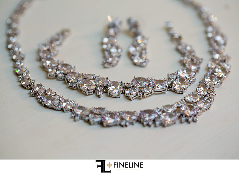 Rhinestone Jewelry photo by FINELINE Weddings Greensburg PA