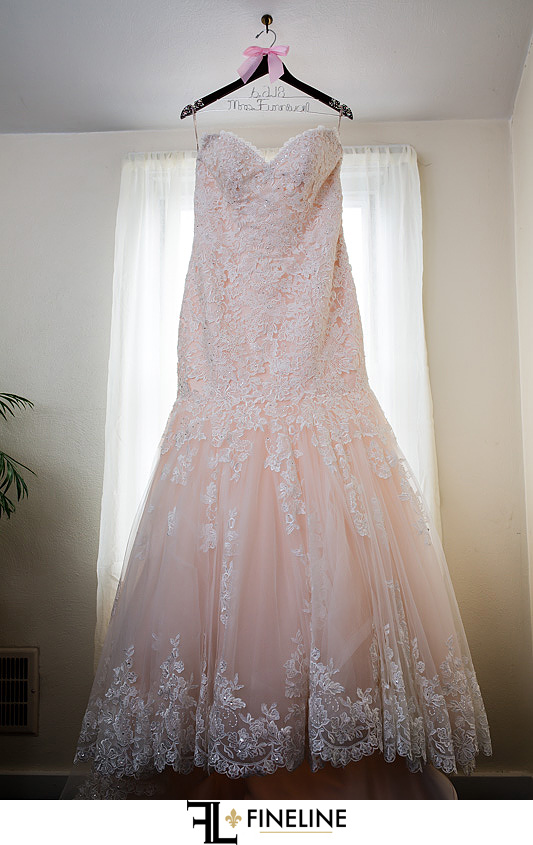 light Pink Wedding dress photo by FINELINE Weddings Greensburg PA