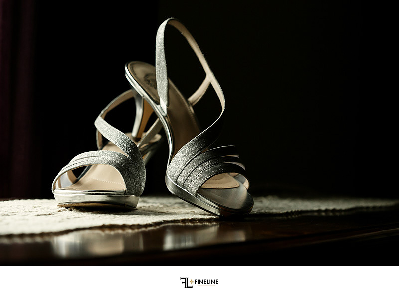 wedding shoes Photos by FINELINE Weddings Greensburg PA