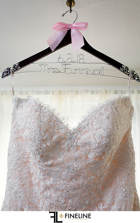 Custom Wedding Hanger photo by FINELINE Weddings Greensburg PA