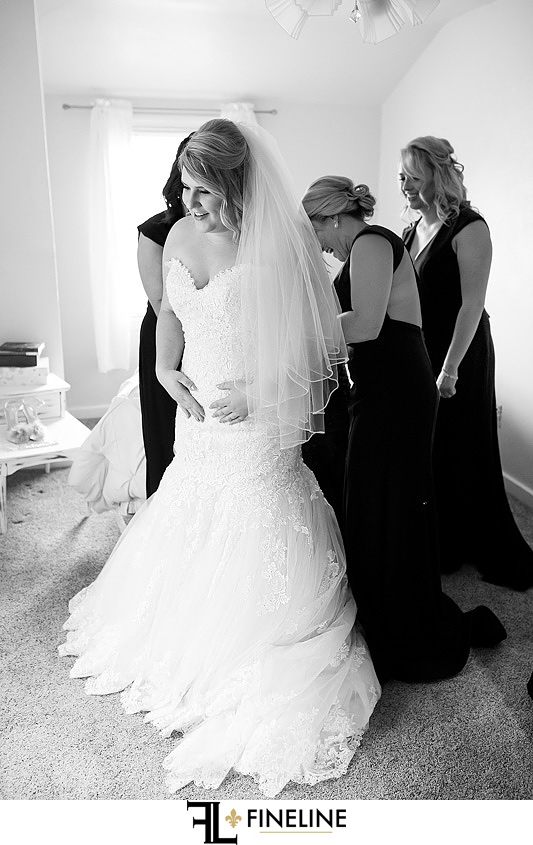 black and white photo photo by FINELINE Weddings Greensburg PA