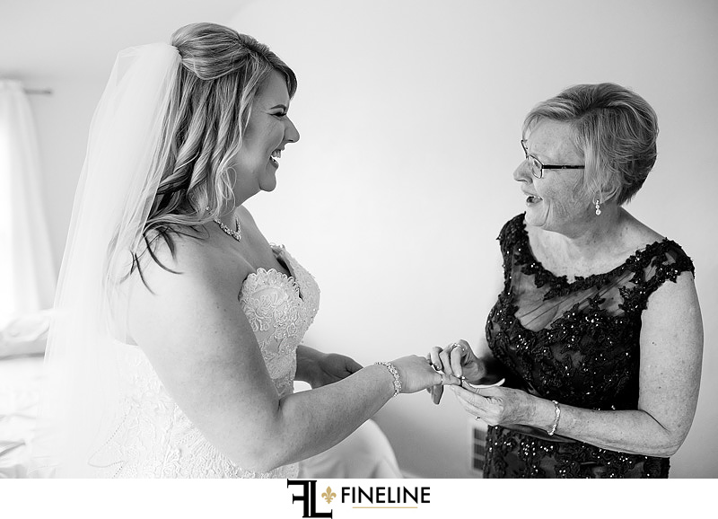 bride and mom photo by FINELINE Weddings Greensburg PA