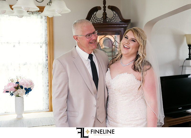 bride and dad photo by FINELINE Weddings Greensburg PA