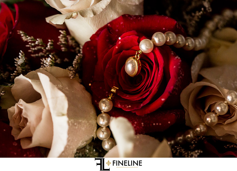 pearls and roses photo by FINELINE Weddings Greensburg, PA