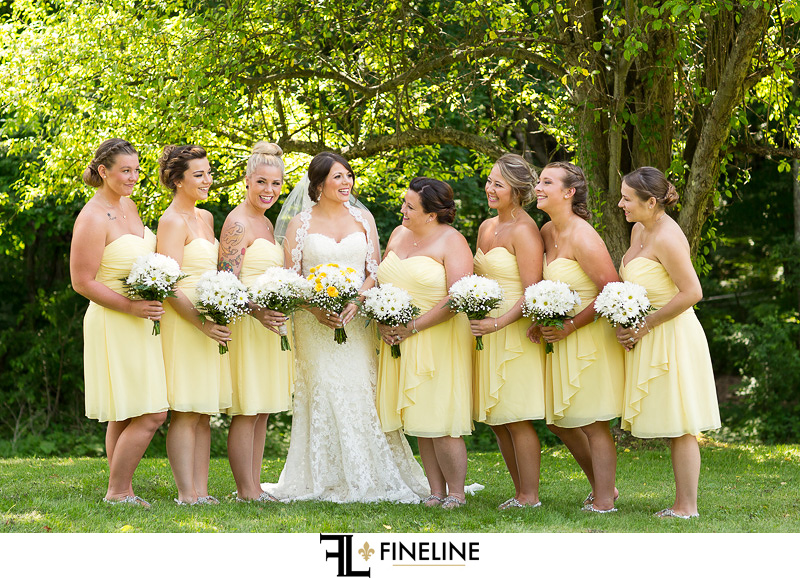 Bride and Bridesmaids photo by FINELINE Weddings Greensburg PA