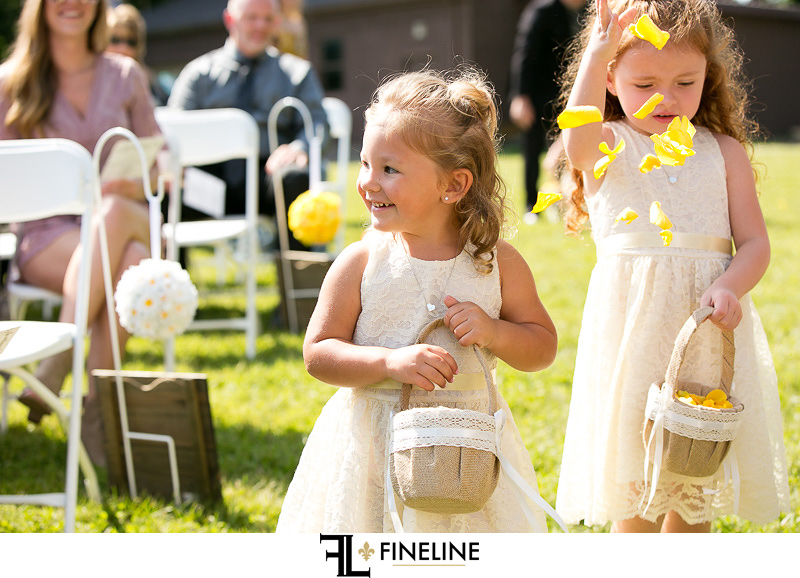 flower girl photo by FINELINE Weddings Greensburg PA