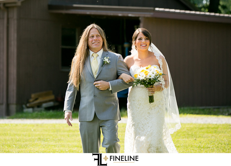walking down the aisle photo by FINELINE Weddings Greensburg PA