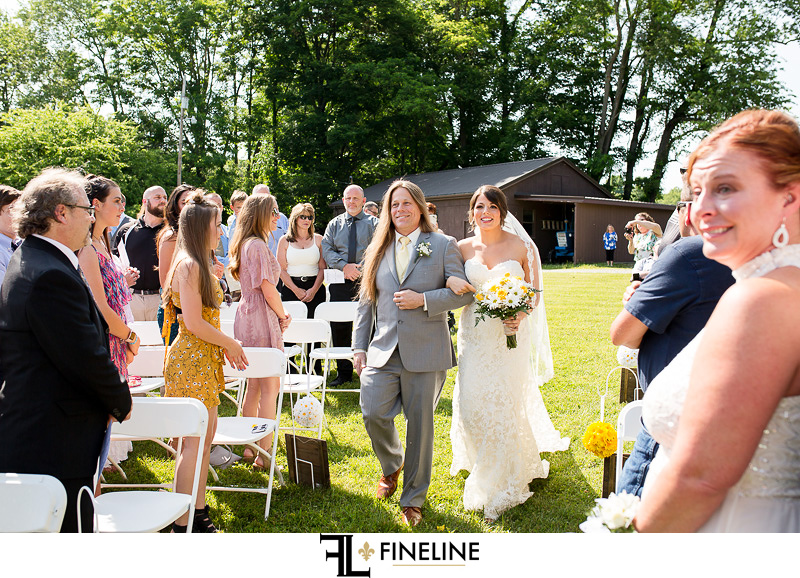Foggy Mountain Lodge Wedding ceremony photo by FINELINE Weddings Greensburg PA