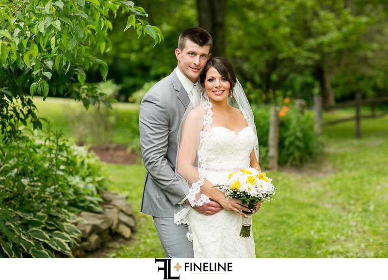 Bride and Groom Foggy Mountain Lodge Wedding photo by FINELINE Weddings Greensburg PA