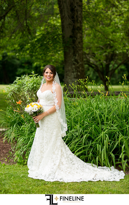 Bride Foggy Mountain Lodge Wedding photo by FINELINE Weddings Greensburg PA