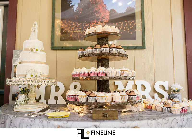 Cupscakes Foggy Mountain Lodge Wedding photo by FINELINE Weddings Greensburg PA