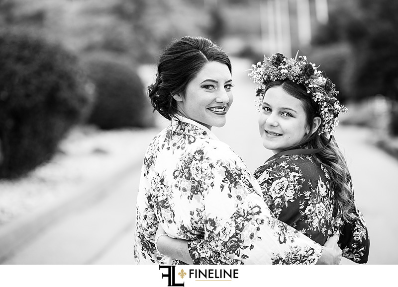 flower girl with bride photo by FINELINE Weddings Greensburg, PA