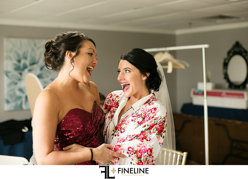 bride and maid of honor photo by FINELINE Weddings Greensburg, PA