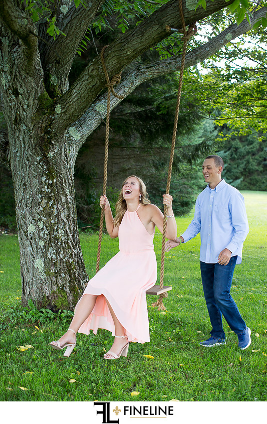 Family Farm Engagement photos by FINELINE Weddings Greensburg PA