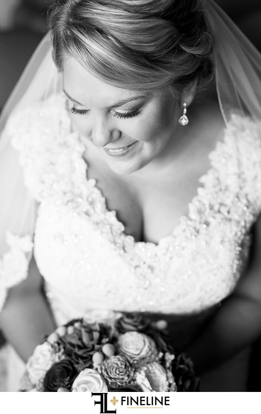 black and white portrait photo by FiNELINE Weddings Greensburg, PA