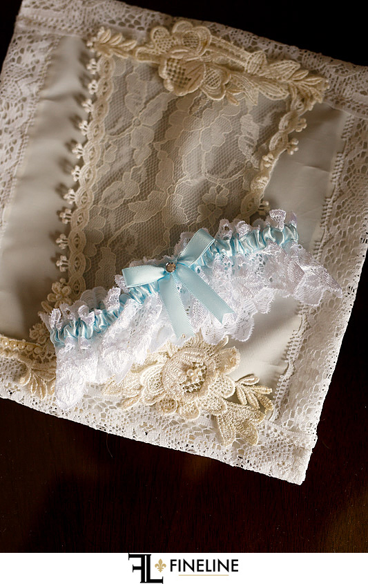 wedding garter photo by FINELINE Weddings Greensburg, PA