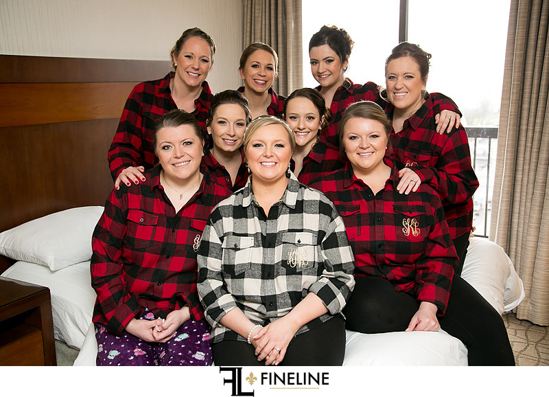 custom plaid shirts photo by FINELINE Weddings Greensburg, PA