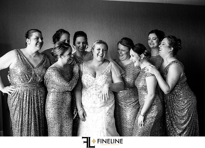 bride and bridesmaids photo by FINELINE Weddings Greensburg, PA