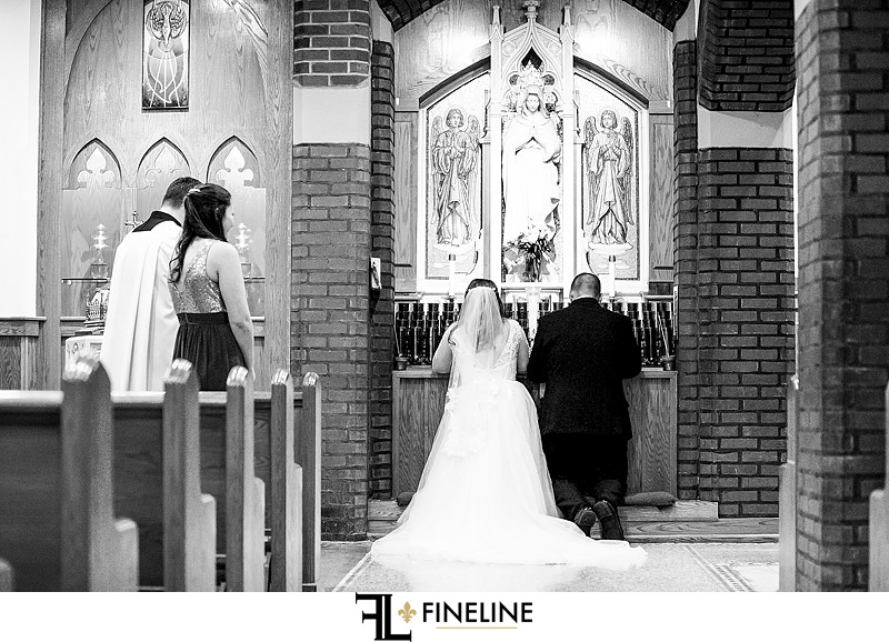 Immaculate Conception Church , Irwin photo by FINELINE Weddings Greensburg, PA