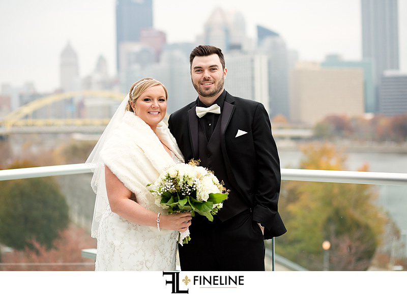 Carnegie Science Center Wedding ceremony photo by FINELINE Weddings Greensburg, PA