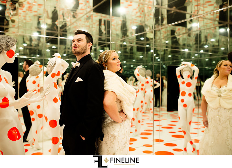 The Mattress Factory Wedding reception photo by FINELINE Weddings Greensburg, PA