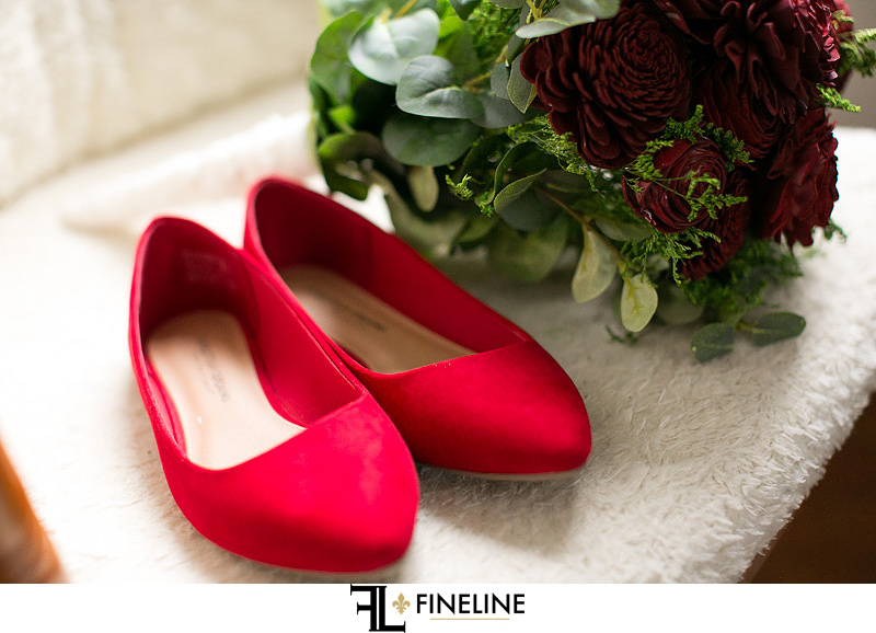 red flats photo by FINELINE Weddings Greensburg, PA