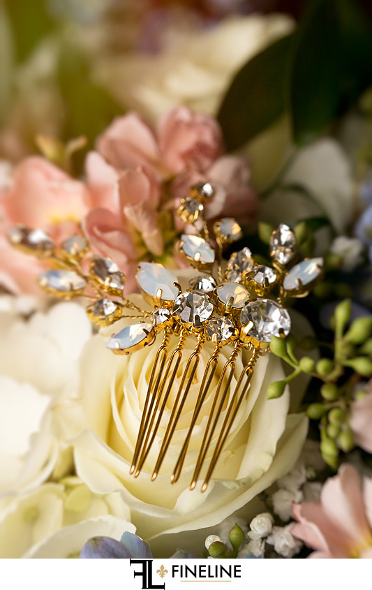 hair clip photo by FINELINE Weddings Greensburg, PA