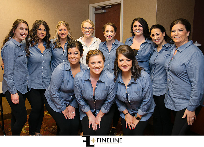 girls in matching shirts for wedding day photo by FINELINE Weddings Greensburg, PA