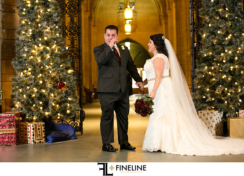 first look photo by FINELINE Weddings Greensburg, PA