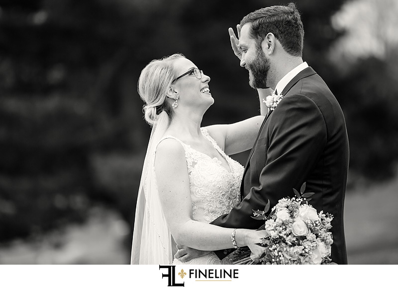 bride and groom first look photo by FINELINE Weddings Greensburg, PA
