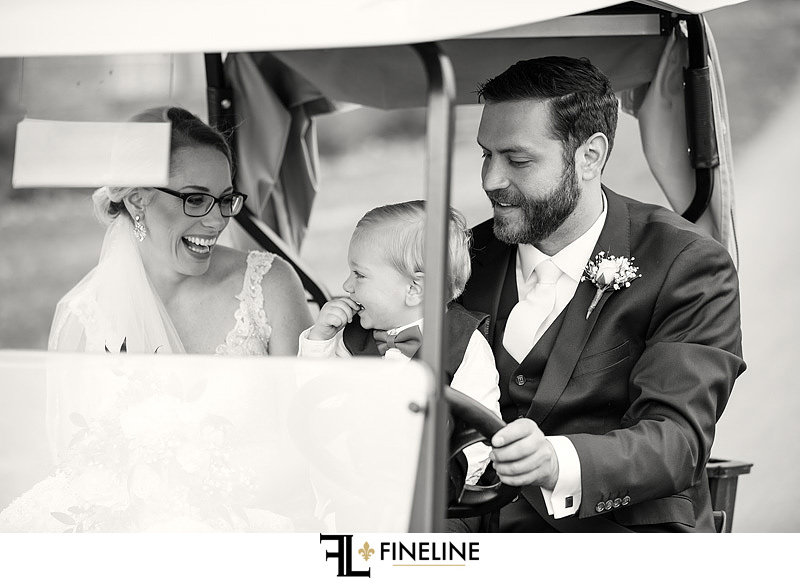bride and groom with son photo by FINELINE Weddings Greensburg, PA