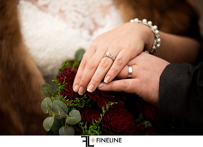 Bride and Groom with rings photo by FINELINE Weddings Greensburg, PA