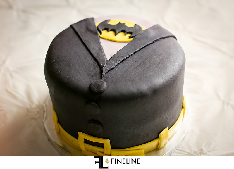 Grooms superman cake St. John Cathedral Center in Munhall, PA photo by FINELINE Weddings Greensburg, PA