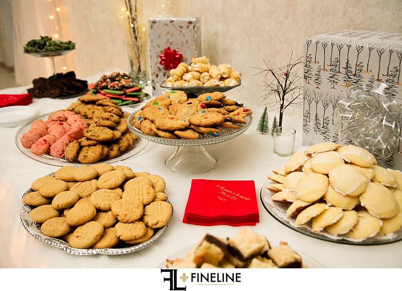 Cookie Table St. John Cathedral Center in Munhall, PA photo by FINELINE Weddings Greensburg, PA