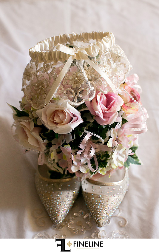 garter and bouquet photo by FINELINE Weddings Greensburg, PA